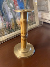 Load image into Gallery viewer, Caspari Bamboo and Brass Candlestick
