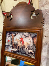 Load image into Gallery viewer, Small Wood Fox Hunt Mirror