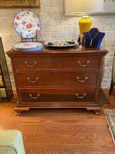 Load image into Gallery viewer, Mahogany Three Drawer Chest