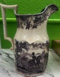 Staffordshire England Mulberry - Purple Transfer Milk Pitcher