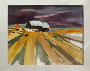 "Matted Print by Jane Carter - ""Little Farm"" #18"