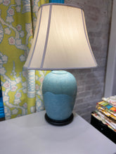 Load image into Gallery viewer, Vintage Turquoise Lamp