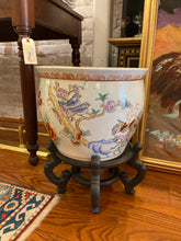 Load image into Gallery viewer, Large Vintage Asian Koi Motif Planter