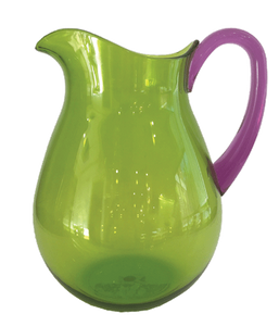 Green Acrylic Pitcher With Amethyst Handle - Chestnut Lane Antiques & Interiors