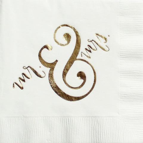 Mr. & Mrs. Cocktail Napkins - Chestnut Lane Antiques & Interiors