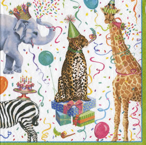 Party Animals Paper Cocktail Napkins - Chestnut Lane Antiques & Interiors