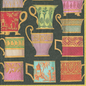Salon de Thé black Paper Cocktail Napkins - Chestnut Lane Antiques & Interiors