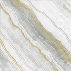 Marble Grey Paper Cocktail Napkins