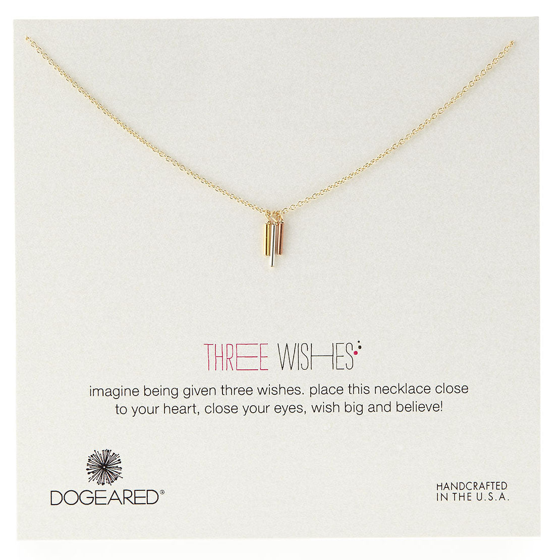 Three Wishes Triple Tube Necklace