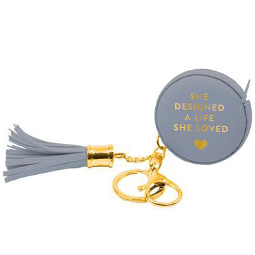 Gray Measuring Tape Keychain