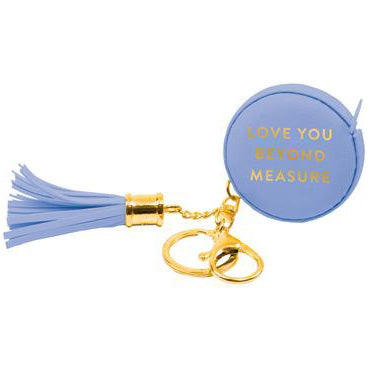 Periwinkle Measuring Tape Keychain