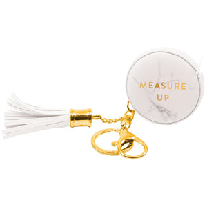 Marble Measuring Tape Keychain
