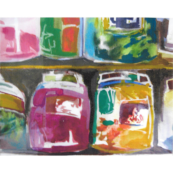 "Original Signed Watercolor - ""Jars"""