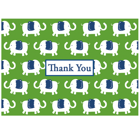 Thank You Notes - Green Elephant Parade - Chestnut Lane Antiques & Interiors