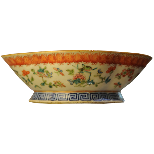 Famille Rose Footed Bowl