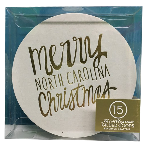 Merry Christmas Coasters - North Carolina - Chestnut Lane Antiques & Interiors - 1