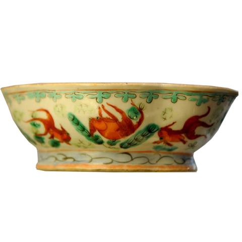 Koi Fish Footed Bowl