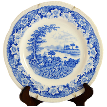 Load image into Gallery viewer, Blue Antique Transferware Plate - Chestnut Lane Antiques & Interiors - 1