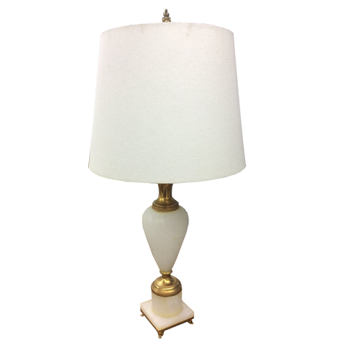 Small Alabaster Lamp - Chestnut Lane Antiques & Interiors - 1