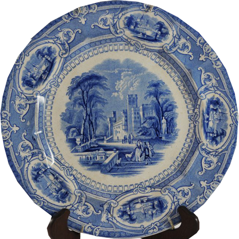 Antique Blue Transferware Plate - Chestnut Lane Antiques & Interiors - 1