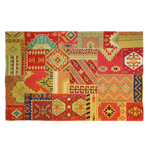 'Cortney' Patchwork Rug - Chestnut Lane Antiques & Interiors - 1
