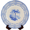 Antique Humphrey's Clock Ridgeway Blue and White Transferware Plate - Chestnut Lane Antiques & Interiors - 1