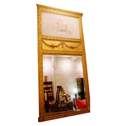 19th Century French Gold Gilt Trumeau - Chestnut Lane Antiques & Interiors - 1