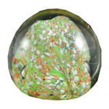Small Pairpoint Clear, Green, and Coral with Large White Middle Paperweight - Chestnut Lane Antiques & Interiors - 1