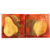 Pair of Fruit Oil on Canvas Paintings