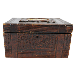 Antique Rustic Tea Caddy English 1850-1890 - Chestnut Lane Antiques & Interiors - 1