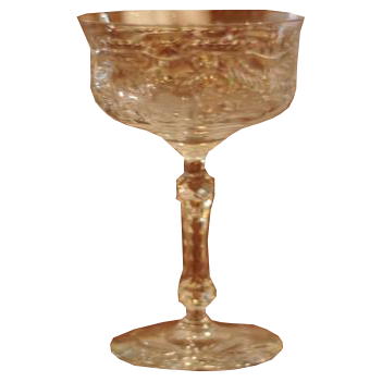 Vintage Rock Sharpe Pattern Tall Sherbet/Champagne Glass - Chestnut Lane Antiques & Interiors - 1