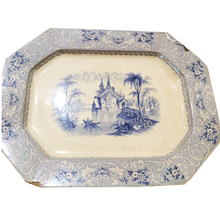 Load image into Gallery viewer, Blue & White Transferware Platter - Chestnut Lane Antiques & Interiors - 1