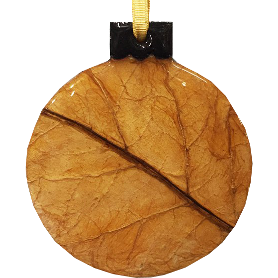 Hand-Crafted Tobacco Leaf Christmas Ornament - Chestnut Lane Antiques & Interiors - 1