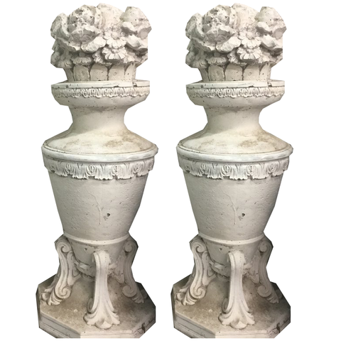 Concrete Decorative Garden Statues(pair) - Chestnut Lane Antiques & Interiors - 1