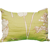 Pear Green Floral Print Pillow - Chestnut Lane Antiques & Interiors - 1