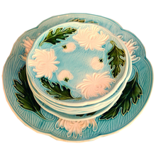 Load image into Gallery viewer, Majolica Turn of the Century German plates set of 8 - Chestnut Lane Antiques & Interiors - 1