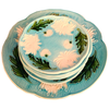 Majolica Turn of the Century German plates set of 8 - Chestnut Lane Antiques & Interiors - 1
