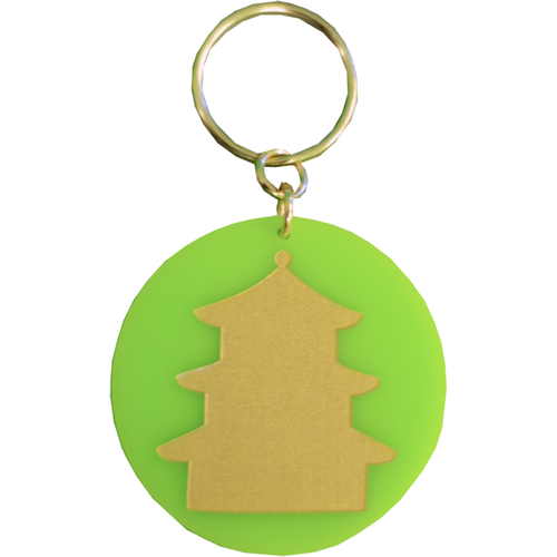 Eden Keychain - Lime Pagoda - Chestnut Lane Antiques & Interiors - 1