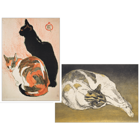Steinlen Cats Assorted Notes - Chestnut Lane Antiques & Interiors