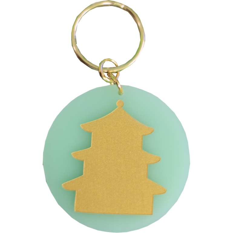 Eden Keychain - Mint Pagoda - Chestnut Lane Antiques & Interiors - 1