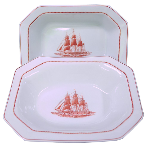 Wedgwood Flying Cloud Vegetable Platter Set of 2 - Chestnut Lane Antiques & Interiors - 1