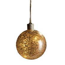 Load image into Gallery viewer, Chunky Vintage Glass Lighted Ball Ornament - Chestnut Lane Antiques & Interiors - 1