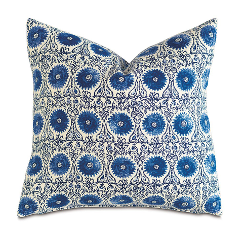 Sula Cerulean Knife Edge Pillow
