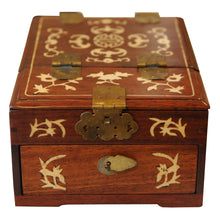Load image into Gallery viewer, Chinese Lacquer Jewelry or Vanity Box with Folding Mirror