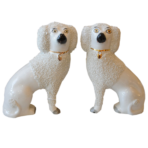 Pair of Staffordshire Poodles