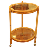 Rattan Bar Cart - Chestnut Lane Antiques & Interiors - 1