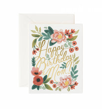 Load image into Gallery viewer, Happy Birthday Mom Greeting Card
