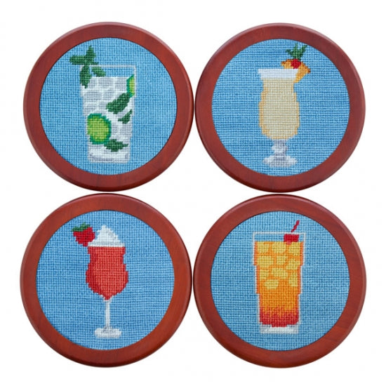 Cocktails Needlepoint Coasters