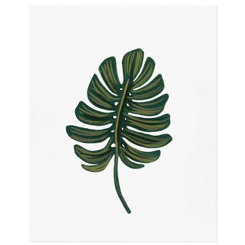 Monstera Leaf Art Print by Rifle Paper Co