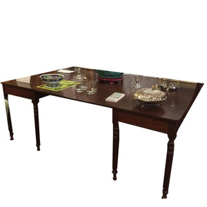 19th Century Antique Sheraton Mahogany Banquet End Table